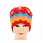 MAIN PRODUCT special design knitted women winter hat and scarf set from China
