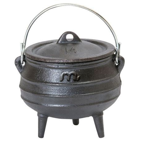 Best selling small 1/4 size three legs cast iron potjie pot