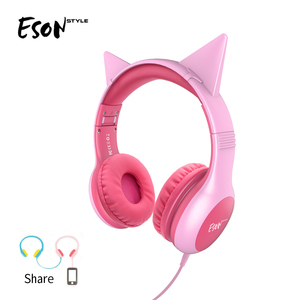 Eson style Over Ear Wired Soft Silicone headphone top seller 2019 for amazon