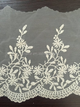 cotton nylon net mesh water soluble lace trim