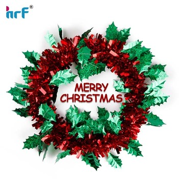 75 m luxury multi color tinsel garland for christmas tree decoration tinsel wire garland - Garland For Christmas Tree