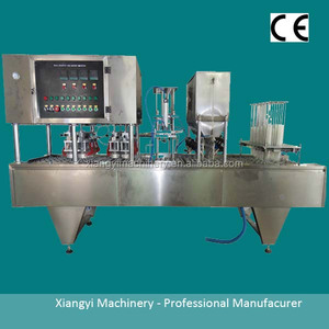 Head Sealing Yogurt/Grease/Ice Cream Cup Filling Machine