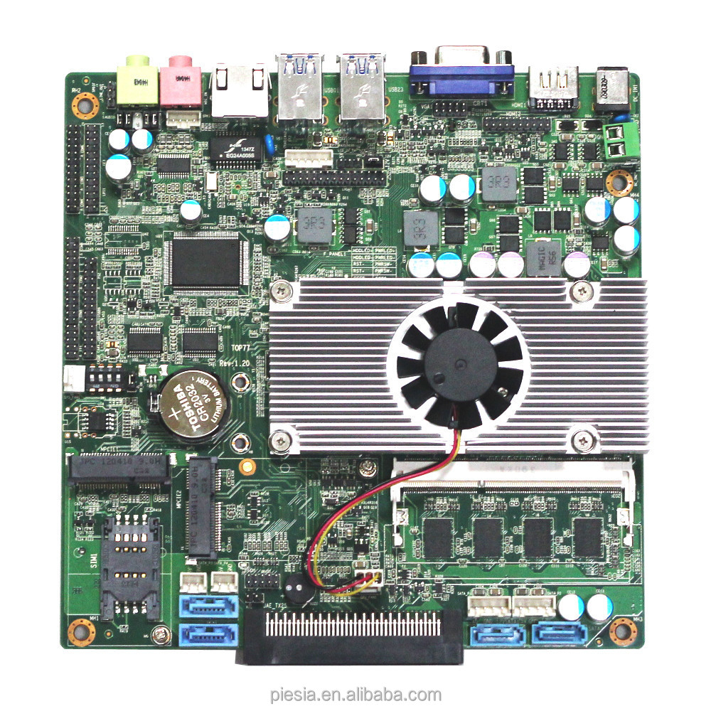 China android mini pc supplier promotion Mini Itx Industrial Motherboard 2 LAN 4 COM/6 COM