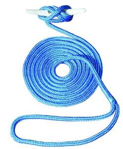 Invincible Marine 25-Foot Double Braid Nylon Dock Line, 3/8-Inch by 25-Feet, Blue
