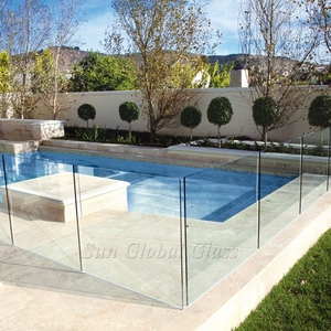 Hot sale clear tempered glass fence panels