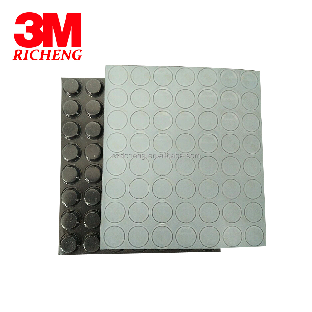 <strong>Rubber</strong> Adhesive Black 3M Bumpon Protective <strong>Rubber</strong> Feet SJ5012, Cylindrical-Flat Top, 3000pcs/case