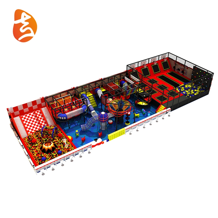 New design children multiple projects plasticindoor playground equipment for mall