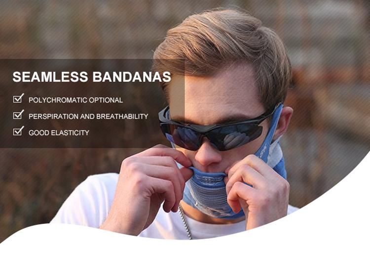 คุณภาพดีฟรีตัวอย่าง Custom พิมพ์ไม่มีรอยต่อ Headwear Head Kerchief Bandana