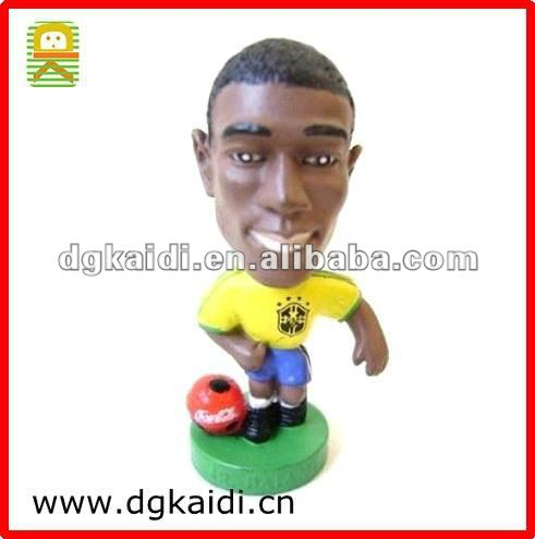 Custom soccer players plastic figures toy