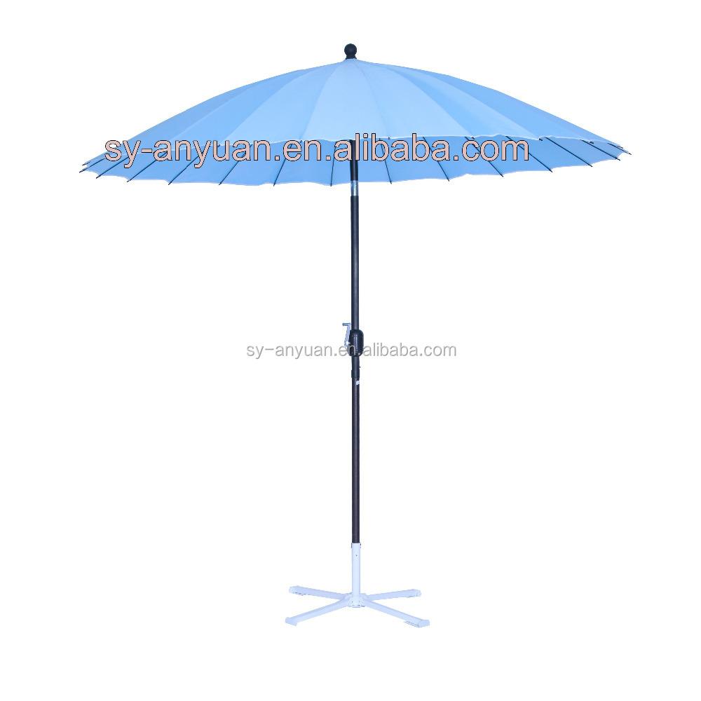 2 4m 24 Rib Oriental Shanghai Garden Umbrella Parasol With Tilt Function