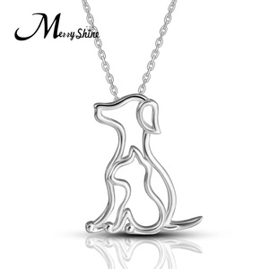 925 Sterling Silver pet lover gifts jewelry best friend dog pendent necklace for woman