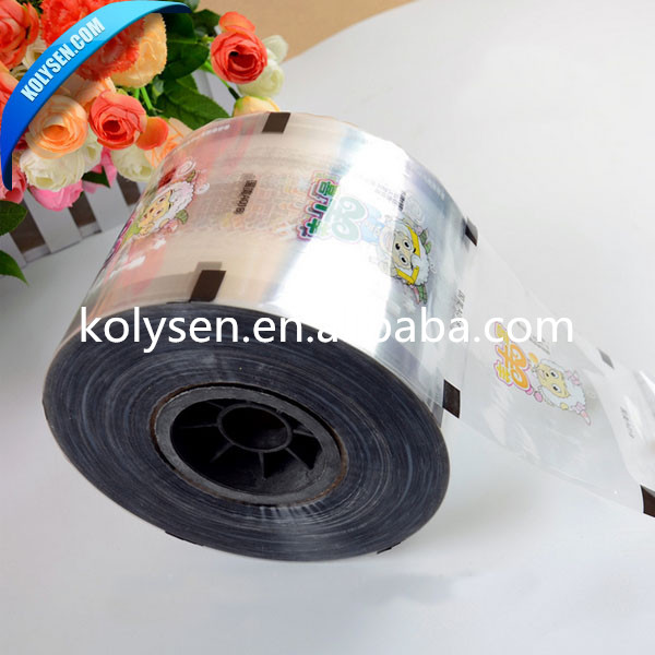 Printed food cover plastic lidding film