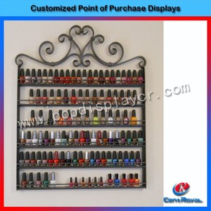 Hot sale antique decorative metal nail polish display floor stand