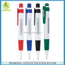 Promotional click plastic window pen with rotating advertising message