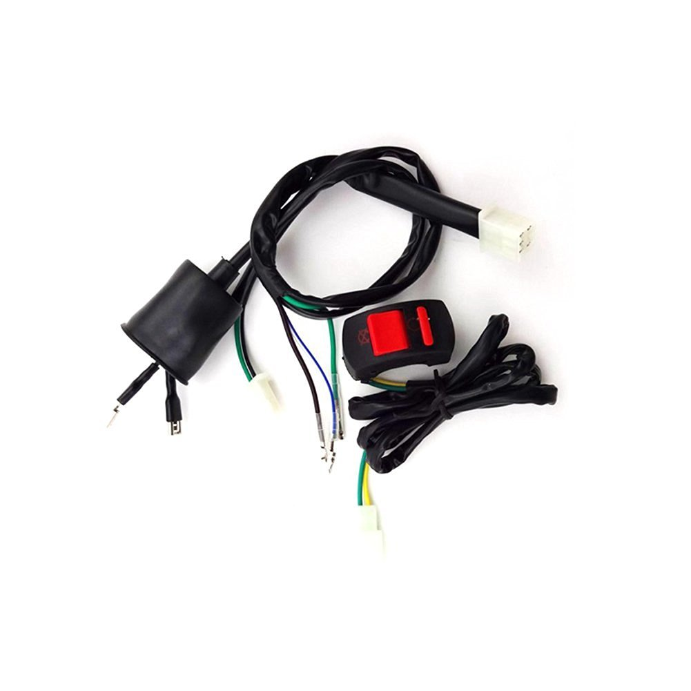 Cheap Engine With Kick Start 110cc Find Wiring Harness Wireloom 50cc 125cc Atv Quad Bike Get Quotations Tc Motor Kill Stop Switch Loom For Chinese 70 90