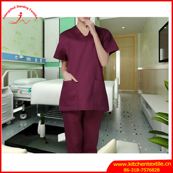 Rushed Medical Suit Lab Coat Women Hospital Medical Scrub Clothes Uniform Fashion Design Slim Fit Breathable