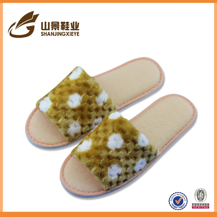 colorful new style factory made washable hotel slippers