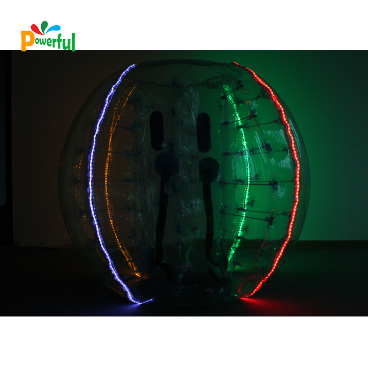 Sport club inflatable tpu bumper ball led bumperball