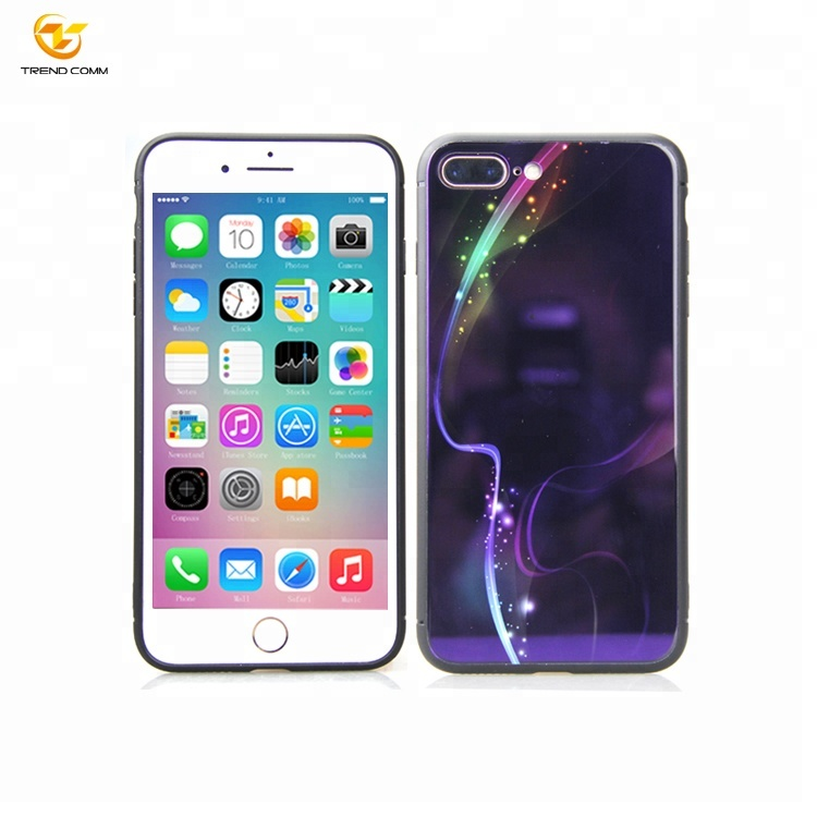 UV Printing Tempered Glass Phone Case For IPhone 7 Plus Glass Case