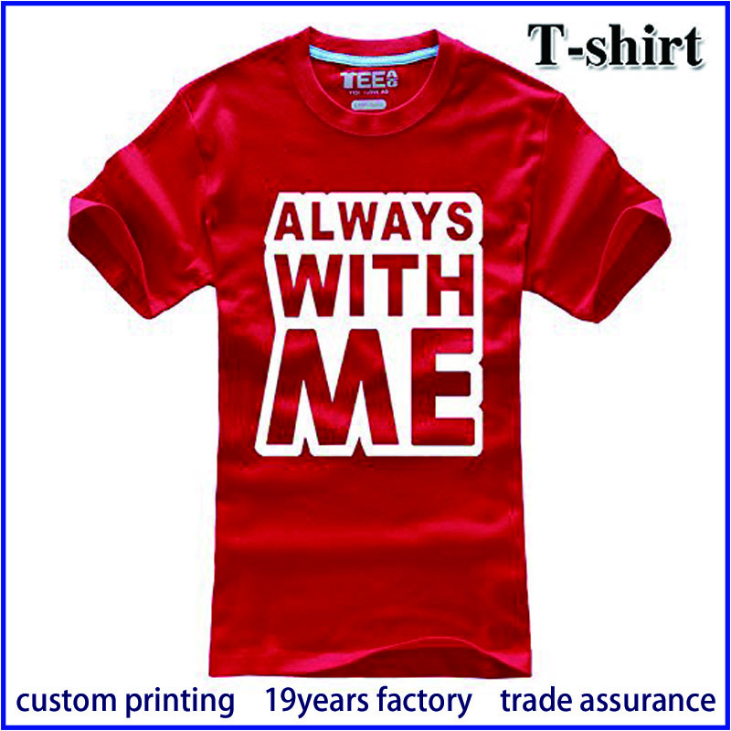 Manufactory OEM Cotton Single Jersey Screen Printing Tshirt