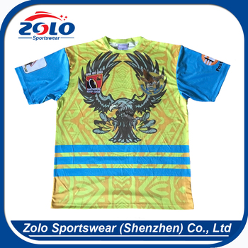 2017 new style make your own custom yellow sublimation rugby jerseys