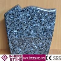 Poland style blue pearl granite headstone