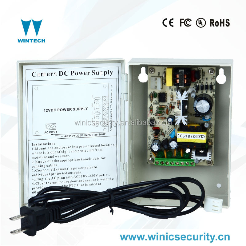 4CH 5A Power Supply for CCTV Security Camera
