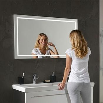 touch screen illuminated fogless shower bathroom mirror