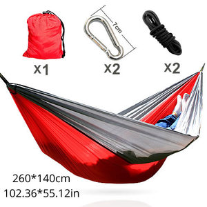 210T parachute cloth 2 color combo custom brand logo Nylon Hammmock