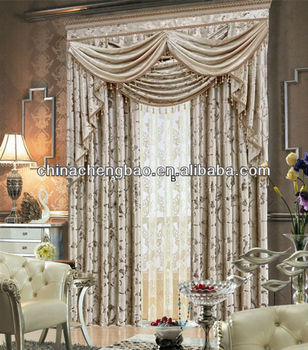 Elegant Curtain For Living Room With Bedroom Fancy Valance - Buy ...