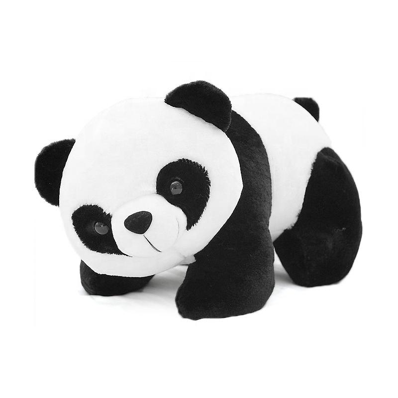 Custom short plush Stuffed Animal Pillow Climbing Panda  Giant Panda Bear Stuffed Toy Doll