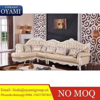 Best Quality French Italian Wooden Corner Sofa Design