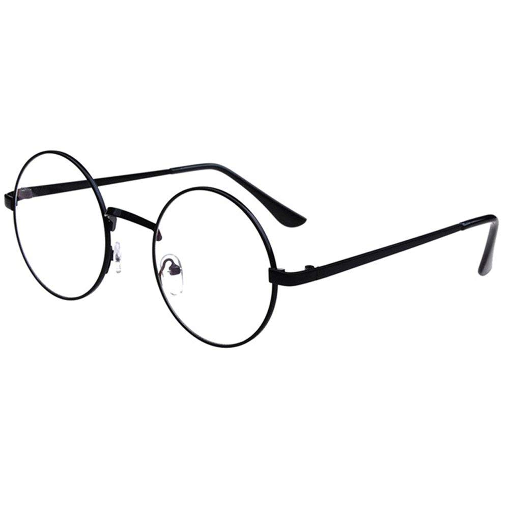 b082559b06 Bronze Retro Big Round Metal Frame Clear Lens Glasses Designer Nerd  Spectacles Eyeglass