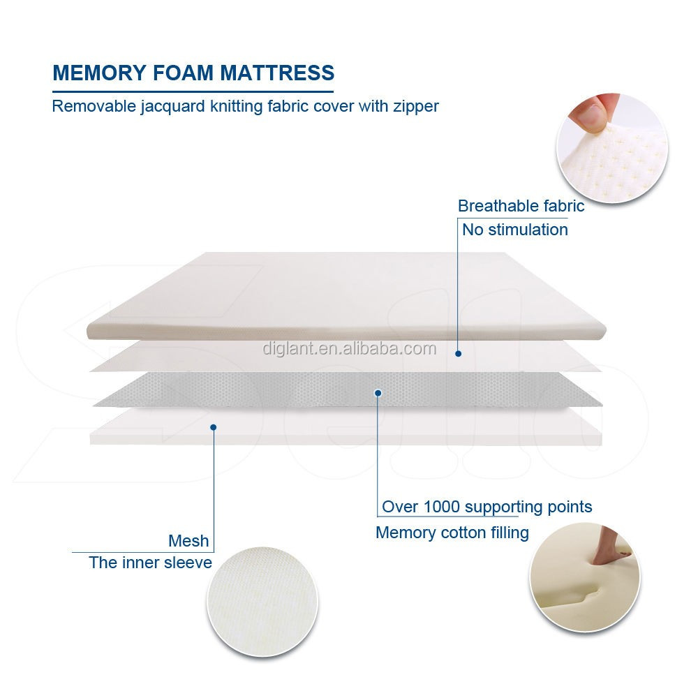 Diglant JE-A843 5 zone soft coil Euro twin size spring latex top pocket mattress