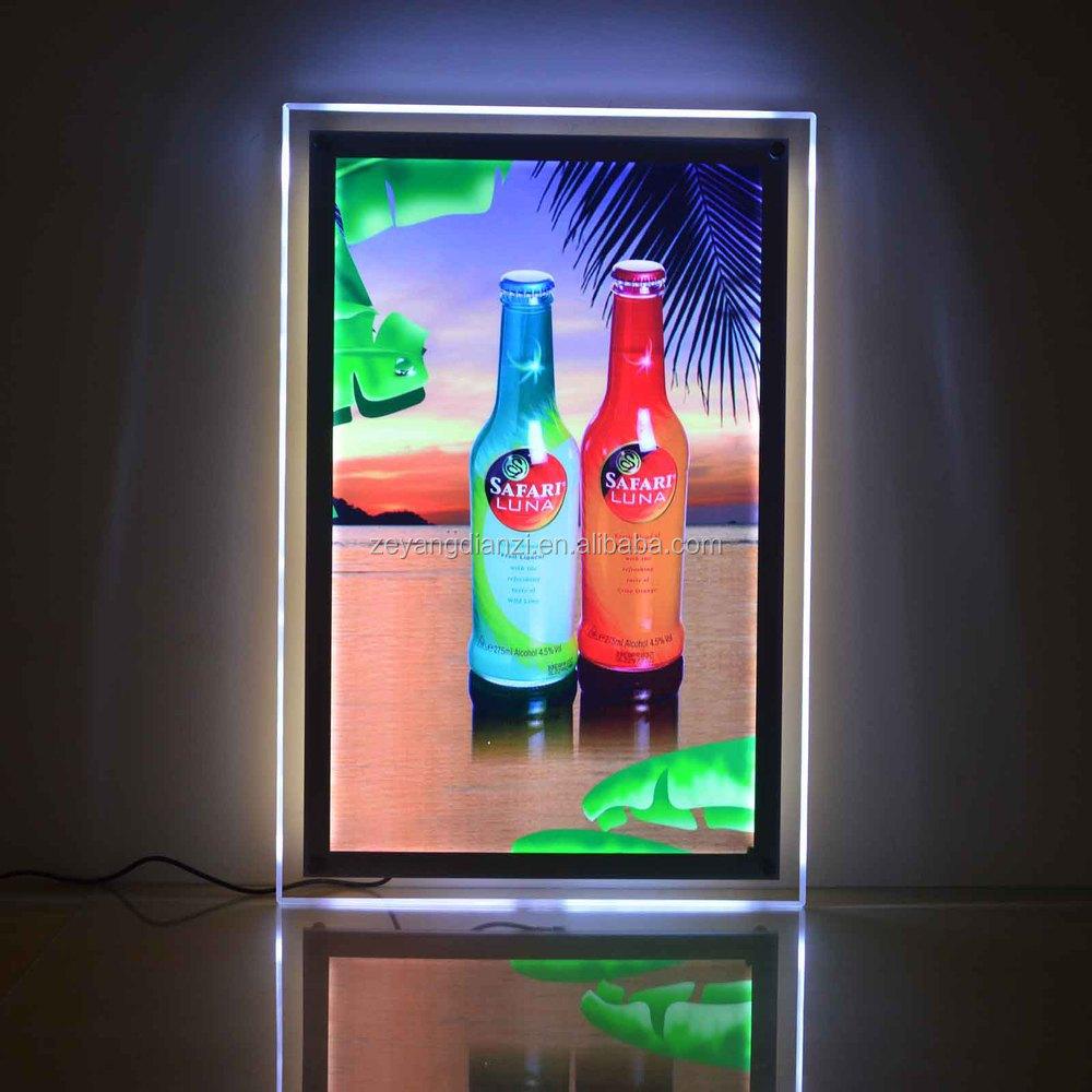 Super Slim Transparent Crystal Led Elevator Advertising Frame - Buy ...