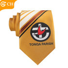 Custom Logo Brown Necktie Cheap Polyester School Uniform Ties