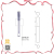 9.5ml good quality empty lip gloss PETG clear lip brush applicator