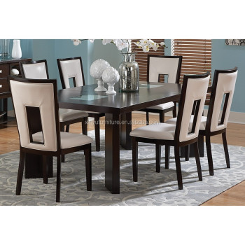 Modern wooden dining table and chair set buy modern for Modern wood dining table set