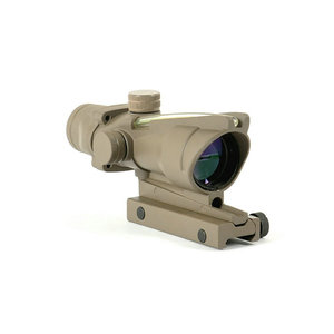 GSP0206-GT-- Tan ACOG 4x32 green Scope Dot Reticle and BDC with TA51 Flattop Mount