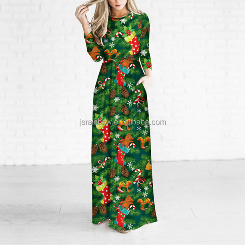 Wholesale fashion <strong>dress</strong> christmas long sleeve woman <strong>dress</strong>