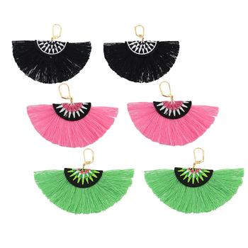 Latest Artificial Earrings Daily Wear Earrings Handmade Fan Shaped