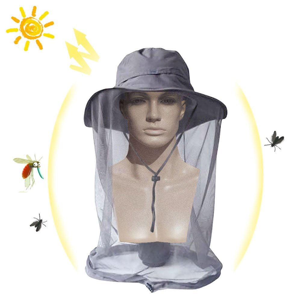 8857f950441f2 Get Quotations · DiDaDi Mosquito Net Head Hat