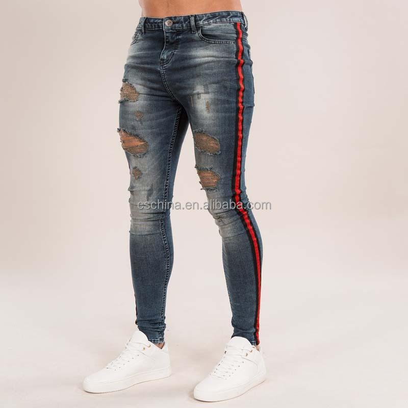 f87d4e5f1dfec Al por mayor nueva moda super skinny jeans hombres