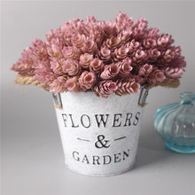 1 комплект, цветы + ваза, искусственные растения с железным ведром, фермерский дом, стильные аксессуары для стола, рождественское свадебное у...(Китай)