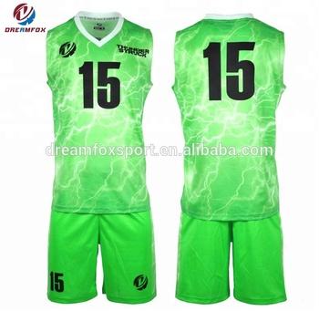 Wholesales Custom Sublimation Basketball Jersey Uniform Design Green
