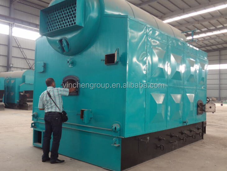 Low Coal Consumption 1ton Straw Fired Steam Boiler With Wood Chips ...