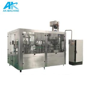 Automatic 3-in-1 carbonated water filling production line/beverage filling machine/water filling plant