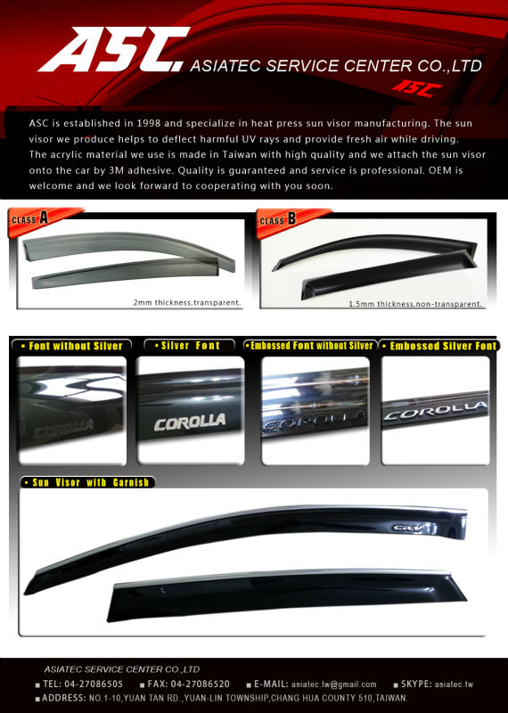 Nissan Door Visor Visor Nissan Door Visor Visor Suppliers And