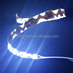 DC12V 8mm width 60LED per meter CE ROHS S shape bendable snake led strip light for advertising channel letter light