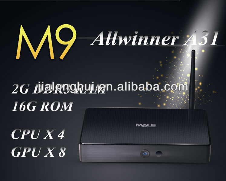 Goedkoopste prijs in ShenZhen! Mele M9 TV BOX 2 GB RAM 16 GB ROM android 4.1 Allwinner A31 cortex A7 android tv box